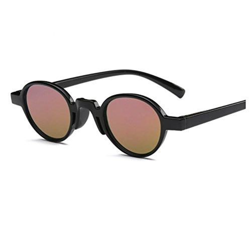 YANJING ZYXCC Color Negro Hombre para de Personalizado Mujer Marco rosa de Sol Rosa Sol Hombre y de Gafas Negro Color y Gafas para Mujer de Cine Redondo rxU4Z1rw