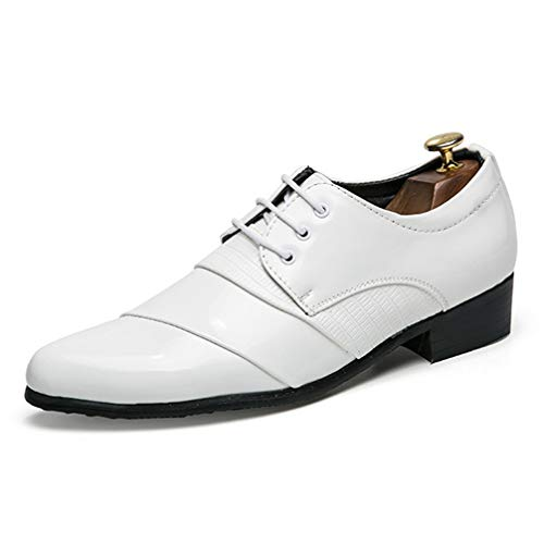 Mens Oxford Shoes Pointed-Toe Lace Up Non-Slip Business Dress ()