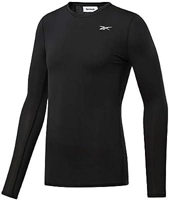 Reebok Wor Compr Lo Sleeve Solid Camisa De Manga Larga, Hombre, Negro, S: Amazon.es: Deportes y aire libre