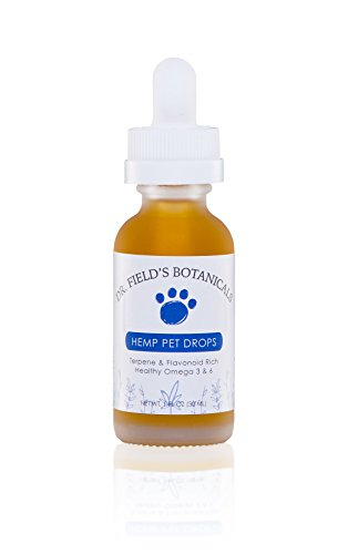 Dr-Fields-Botanicals-Hemp-Pet-Drops-375-mg-Full-Spectrum-Aerial-Hemp-Oils-1-oz-100-Organic-USA-Farmed-Great-for-Old-HipsJoints-Stress-Pain-Anxiety-More