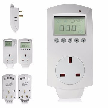 Electric Digital Temperature Controller Programmable Heating Thermostat - Electrical Gadgets & Tools Temperature Controller - (A) -1 x Electric Digital Temperature Controller Thermostat
