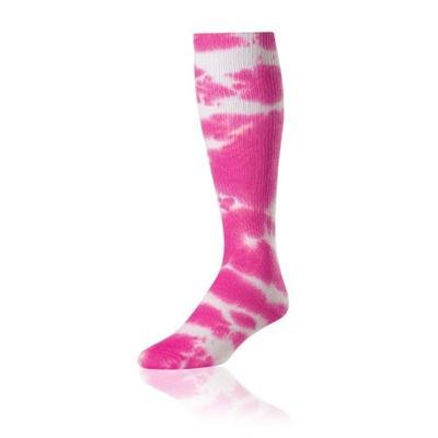 (Pink Large Tyed Dye (Tye Dyed) Knee High Socks for all Sports (Volleyball, Softball, etc). 8 Tye Dye Colors, 3 Sizes (Pink, Large))