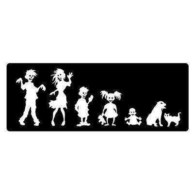 (Carframes18 Zombie Family Stick Figure Boy Girl Baby Dog Cat Vinyl Sticker - Car Window Bumper Laptop Bumper Sticker Decal)