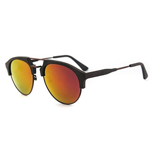 madera ocio los libre C99 viaje hombres polarizadas azul de C19 aire sol Zhangxin de grano al verde sol de gafas de Gafas película PqqxAwY