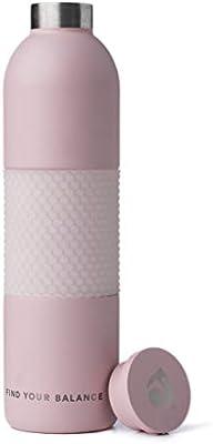 19 oz Stainless Steel with a textured grip Sustainable Water Bottle Lokai Metal Water Bottle- Sleek