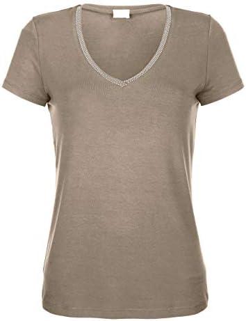 Alba Moda damska koszulka z dekoltem w serek: Odzież