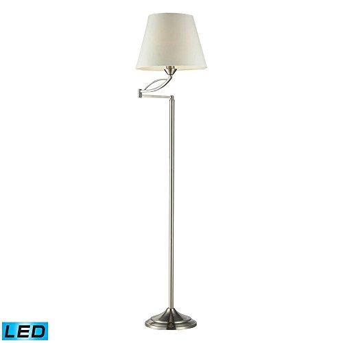 Dimond Lighting 17047/1-LED Elysburg - LED Floor Lamp, Satin Nickel Finish with White Shade
