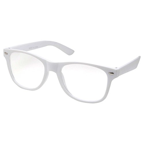 Kids Nerd Glasses Clear Lens Geek Fake for Costume Children's (Age 3-10) - White Glasses Nerd