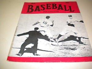 1943 BASEBALL MAGAZINE DEC. FRANK CORSETTI COVER