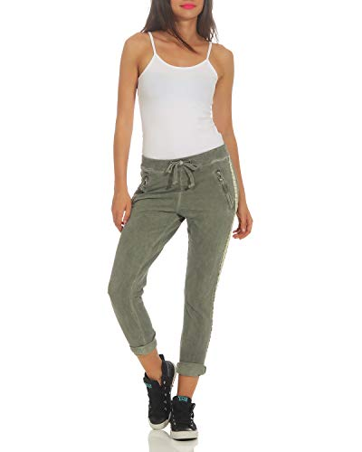 Affaires Boyfriends Pantalon Occasionnels ZARMEXX avec Coton Pantalons Dames 816133 Arme Incrustation Pantalons fx8Rzg