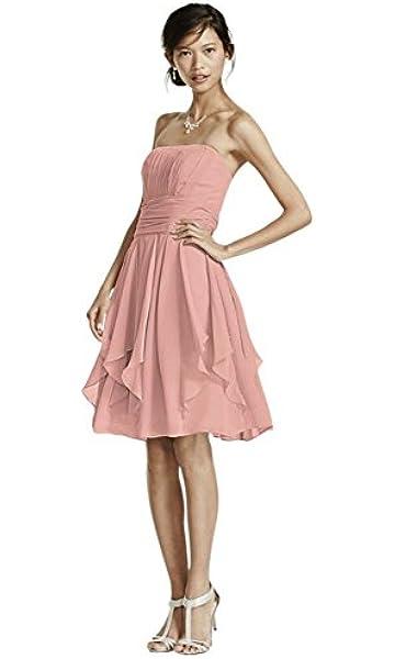 Strapless Chiffon Bridesmaid Dress with Layered Skirt Style F14169