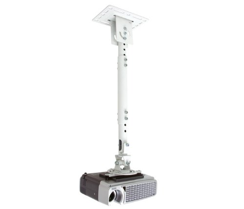 Telehook Ceiling Projector (Atdec TH-WH-PJ-CM/TAA Adjustable Ceiling Projector Universal Mount and Extension, White)