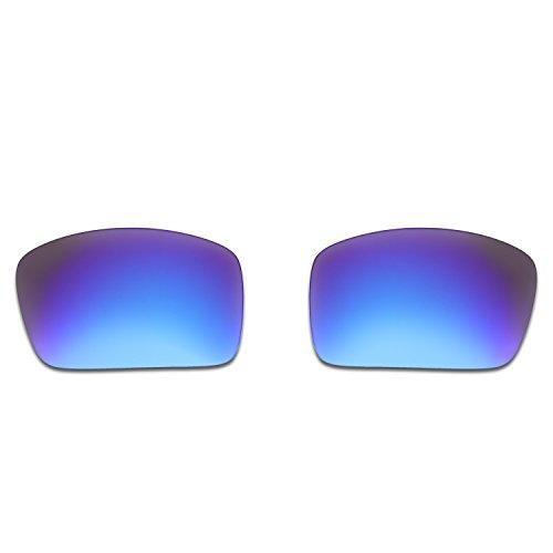 Hkuco Plus Mens Replacement Lenses For Oakley Oil Drum Sunglasses Blue/Black Polarized