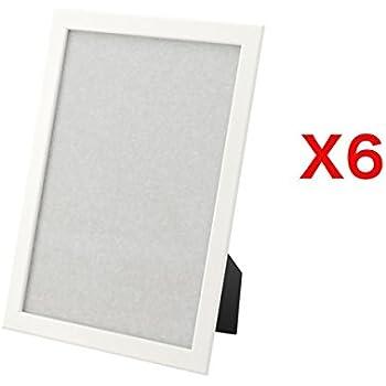Amazon.com - Fiskbo Set of 6 White Picture Frames 8.5 x 11 inch, 6 ...