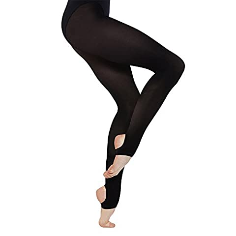 """Silky Womens/Ladies Dance Stirrup Pantyhose/Tights (1 Pair) (Large (5ft6""""-5ft10"""")) (Tan) - Opaque Stirrup Tights"""
