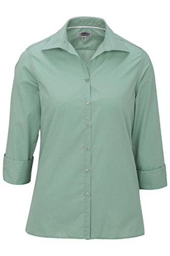 (Elliesox Ladies Poplin 3/4 Sleeve Blouse 2XL Mist Green 5040)