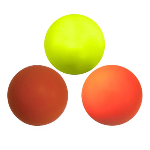 Three Assorted Color Lacrosse Balls - Yellow, Red and Orange [Misc.]