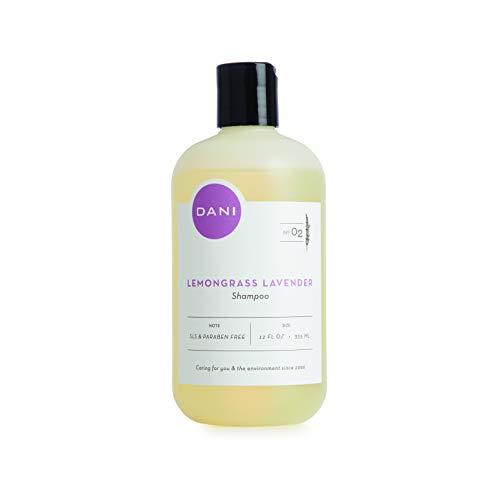 Natural Moisturizing Shampoo by DANI Naturals - Calming Lemongrass Lavender Aromatherapy - Organic Aloe Vera & Coconut Cleansers - Sulfate, Phthalate & Paraben Free - Vegan & Cruelty Free - 12 Ounces