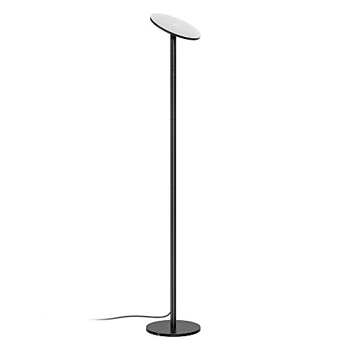 TROND LED Torchiere Floor Lamp Dimmable (30W, 5500K Natural Daylight, Max. 4200 lumens, 71-Inch, 30-Minute Timer, Zero Delay with Wall Switch), for Living Room Bedroom Office