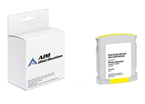 AIM Compatible Replacement for Pitney Bowes Connect+ 1000/2000/3000 Yellow Postage Meter Inkjet (787-F) - Generic