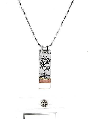 Tree Of Life ID Badge Holder Lanyard Silver Chain Necklace