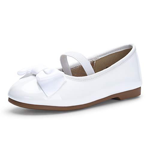 PANDANINJIA Girls Ballet Dress Flats Mary Jane Wedding Party School Uniform Flower Girl Shoes for Toddler/Little Kid