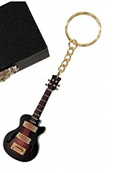 LLAVERO MINIATURA MUSICAL (LLAVERO GUITARRA ELECTRICA MARRON): Amazon.es: Hogar