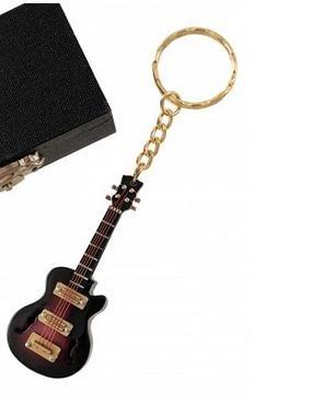 REGALOS LLUNA Llavero Miniatura Musical (Llavero Guitarra ELECTRICA Marron)