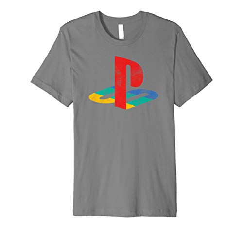 Playstation Playstation Logo Retro Distressed Premium T-Shirt