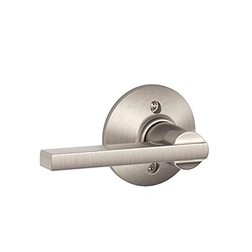 Door Dummy Lever - Schlage Lock Company Latitude Lever Non-Turning Lock, Satin Nickel (F170 LAT 619)