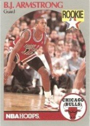 Amazoncom Bj Armstrong 1990 91 Hoops Rookie Card 60 Sports