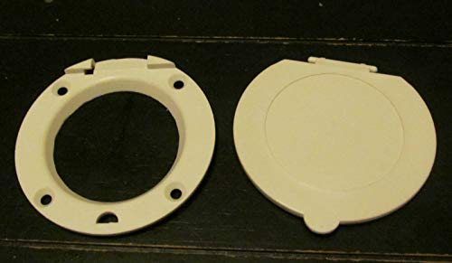 White Crank Hatch Door Access Cover Removable Lid for Pop-up Camper RV Jayco