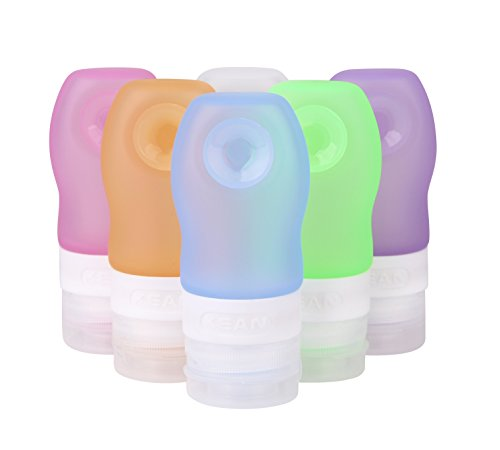 OXU Travel And Home Reusable Silicone Sucker Packing Bottles Pack of 4 Random Color (Hennessy Bottle Cover)