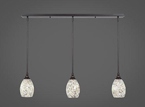 Fusion Pendant Light (Toltec 3 Light Multi Light Mini Pendant with Hang Straight Swivels in Dark Granite with 5