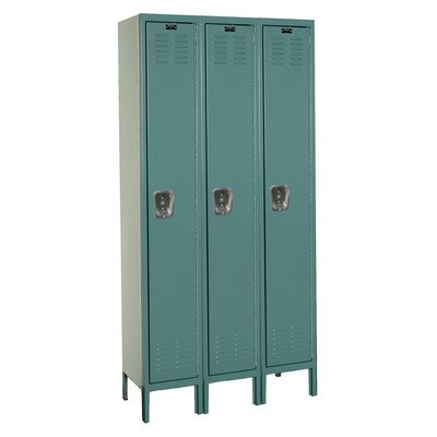 Premium Stock Lockers - Single Tier - 3 Sections (Assembled) Dimensions (W x D x H): 18