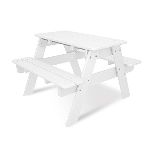 POLYWOOD KT130WH Kids Picnic Table, White by POLYWOOD