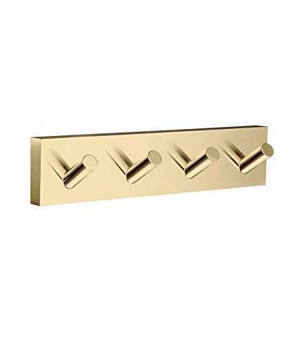 (Smedbo SME RV359 Towel Hook Quadruple, Polished Brass,)