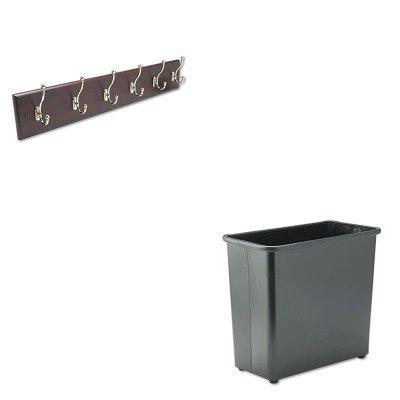 KITSAF4217MHSAF9616BL - Value Kit - Safco Wall Rack (SAF4217MH) and Safco Fire-Safe Wastebasket (SAF9616BL)