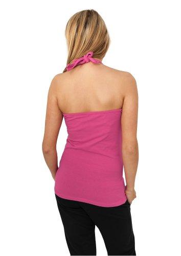 Urban Classics Dames Neckholder Shirt TB382, couleur:turquoise;Taille:L