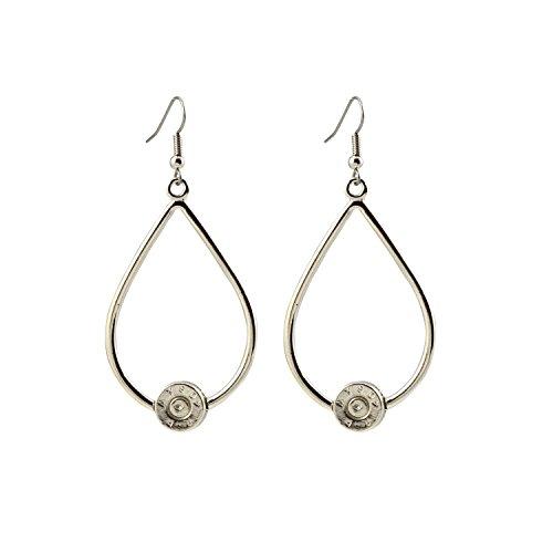 Southlife - Lizzy J's Silver Plated Bullet Shell Teardrop Dangle Earrings