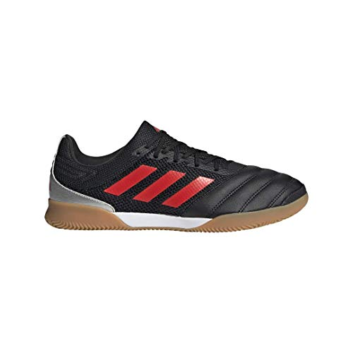 adidas Men's Copa 19.3 Indoor SALA Soccer Shoe, Black/hi-res red/Silver Metallic, 11 M US