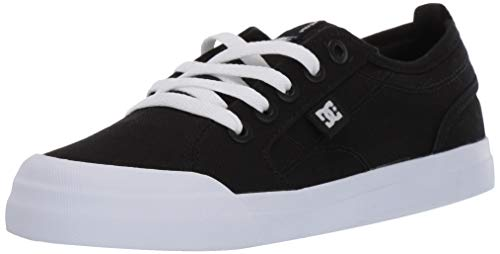 DC Boys' Evan TX Skate Shoe Black/White 2 M US Little Kid