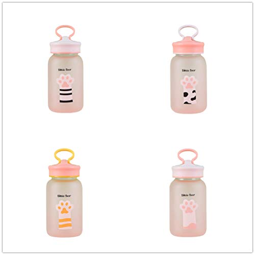 (Creative Cute Kitty CAT Claw Print Cup 400-500ml Bottle Cap is Mobile Phone Stand)