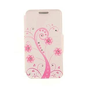 QJM Kinston Pink Art Tree Diamond Paste Pattern PU Leather Cover for iPhone 6
