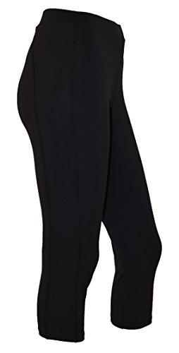 - Private Island Hawaii Women UV Rash Guard Leggings Capri Pants (X-Large, Black)
