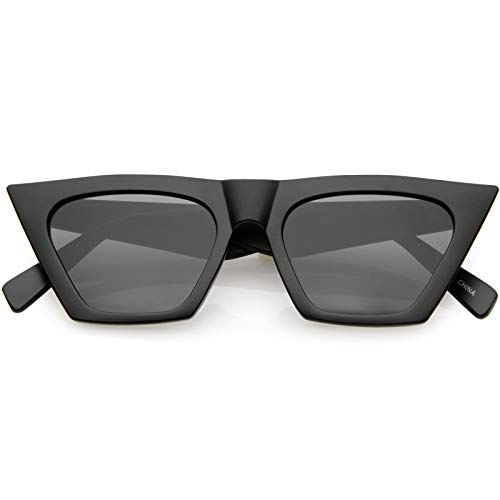 sunglassLA - Oversize Exaggerated Cat Eye Sunglasses Wide Arm Square Lens 51mm (Matte ()