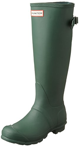 Hunter W Original Back Adjustable Tall Rain Boots Hunter Green Womens 8 by Hunter