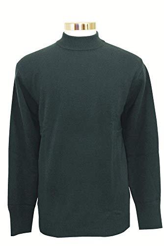 Shephe Men's Mock Turtleneck Cashmere Sweater Dark Green XX Large