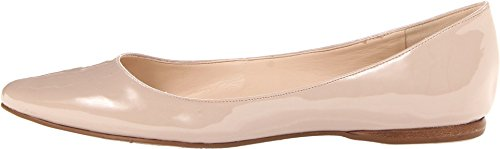 Nine West Women's Speakup Flat,Natural Leather Patent,6 M US