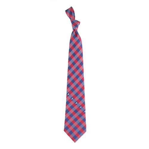 Braves Tie - Atlanta Braves Check Poly Necktie